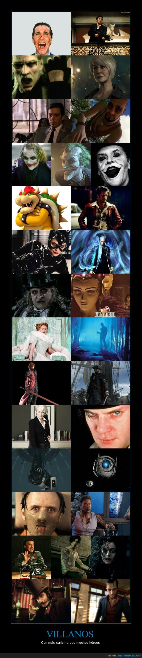 carisma,heroes,joker,pelicula,uncharted,villano