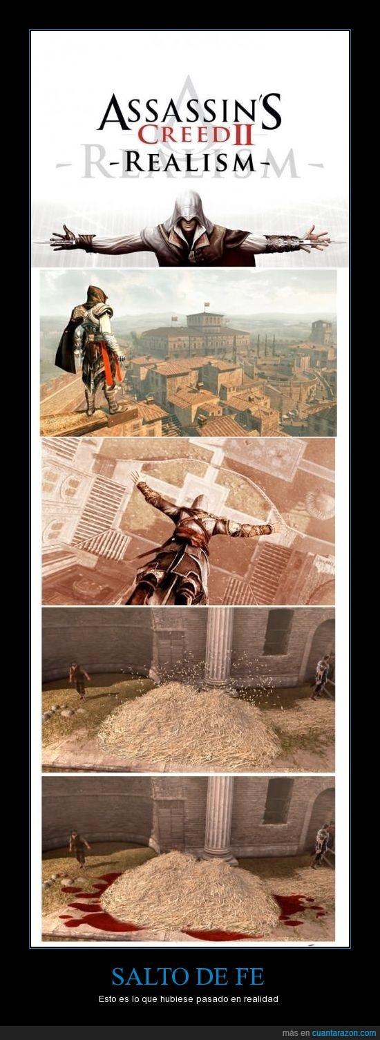 assassin's creed,morir,saltar,salto de fe. sangre