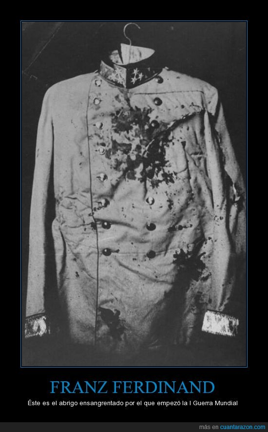 Abrigo,asesinato,franz ferdinand,l Guerra Mundial,sangre