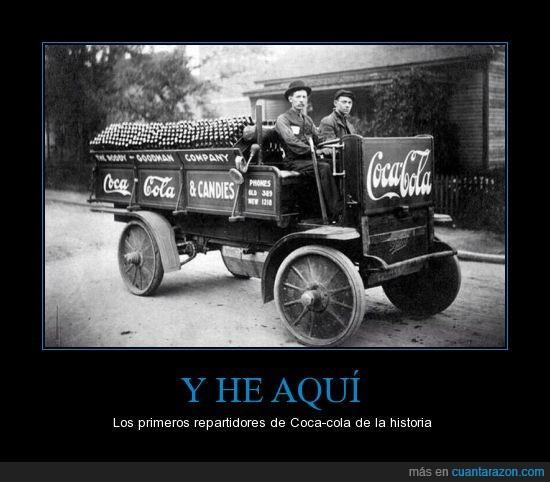1909,bebida,coca cola,cocacola,coche,corporación,repartidor