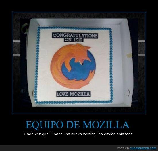 Firefox,Internet explorer,Mozilla,pastel,tarta,Troll