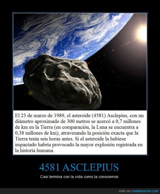 4581,Asclepius,Asteroide,destrucción,Tierra