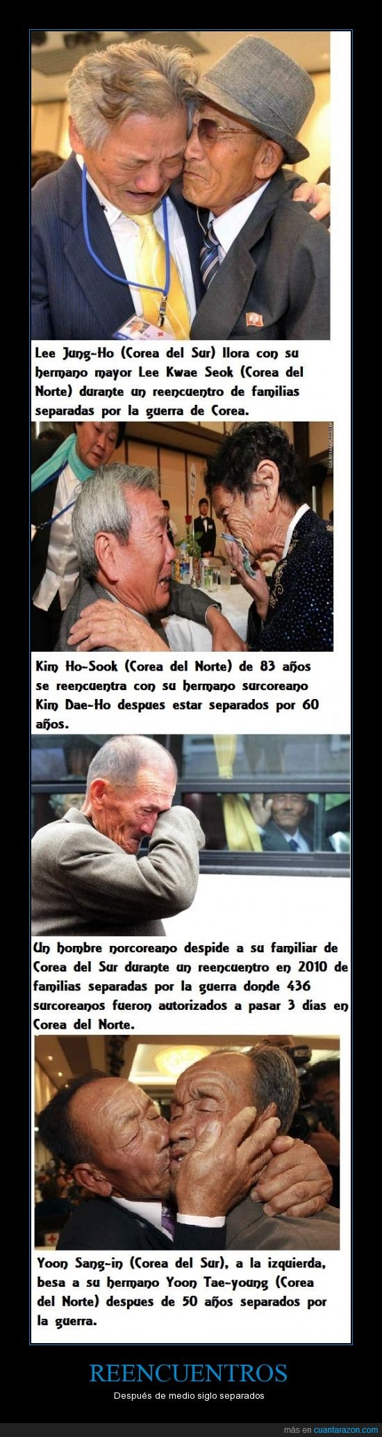 corea,corea del norte,corea del sur,familia,guerra. 60 años,hermanos