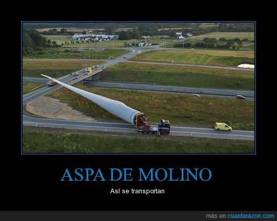 aspa,camion,coche,eolico,grande,molino,viento