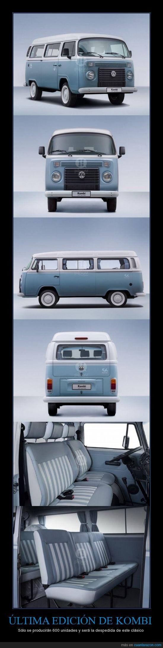 Kombi,se fabrican en Brasil,última edición,VW