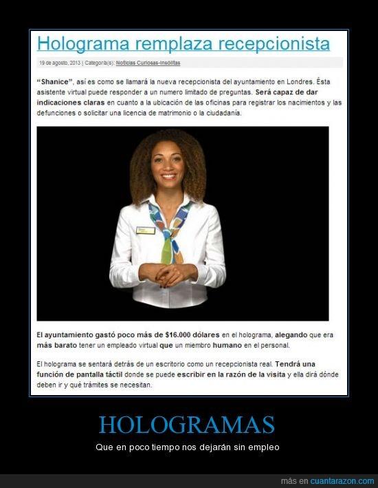 crisis,empleo,holograma,noticia,tecnologia,trabajo