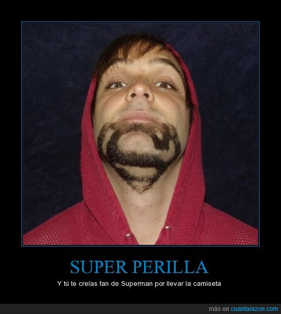 afeitar,barba,capucha chico,heroe,perilla,superman