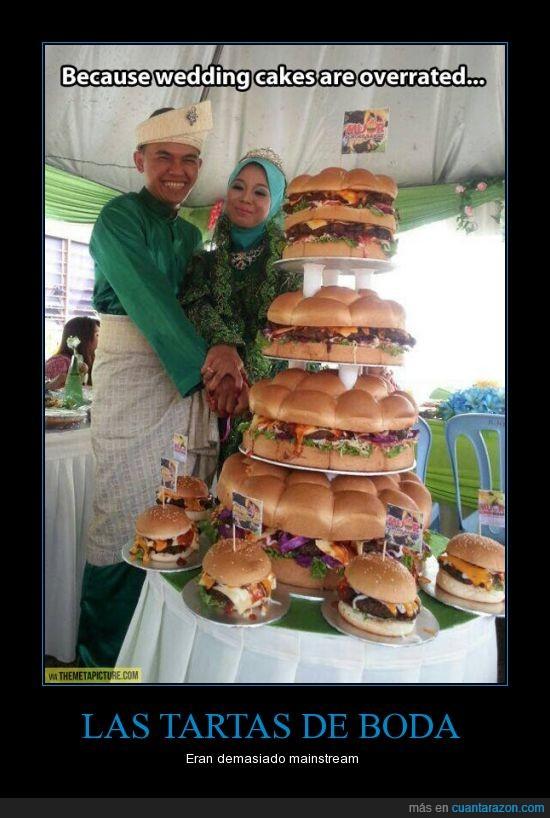 boda,hamburguesa,pastel,pizza