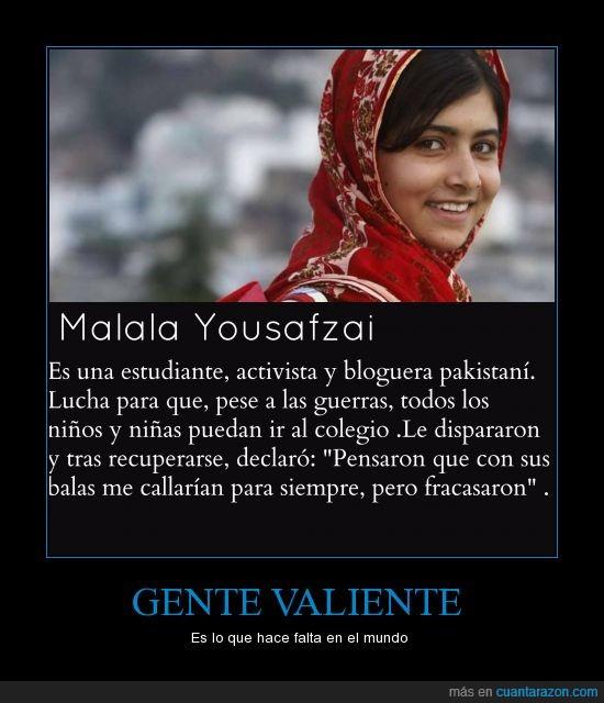 heroína,malala,malala yousafzai,no la conozco del facebook,valentía