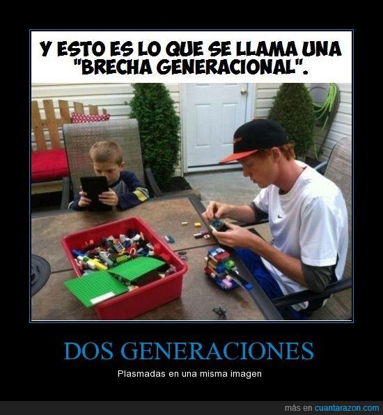 crio,generaciones,lego,tablet,tio