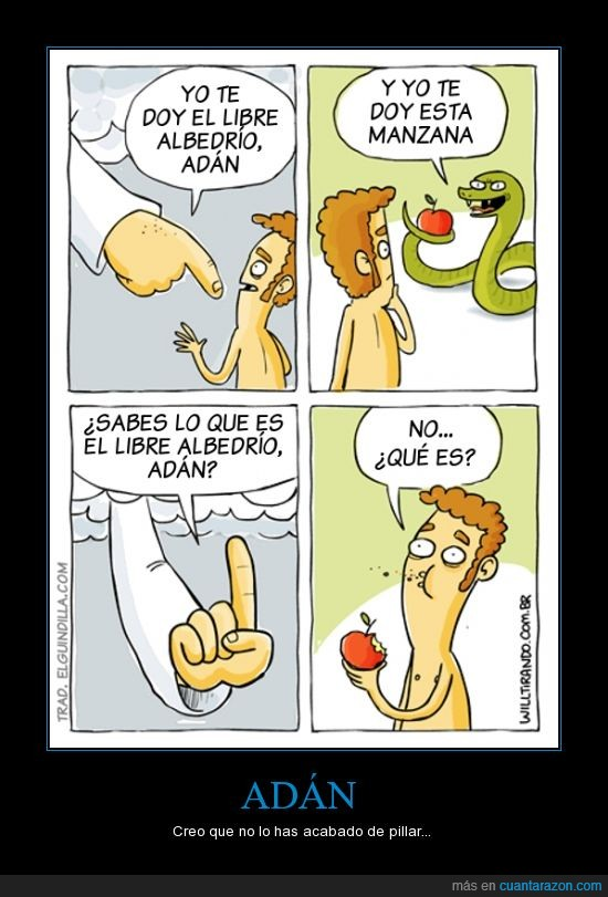 adan,libre albedrio,manzana,serpiente