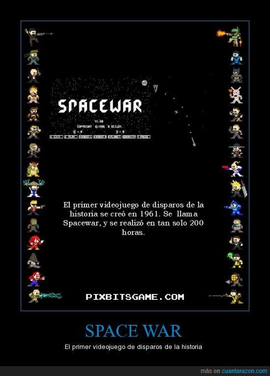 disparos,espacio,primero,si lees esto me aceptaron el cartel,Spacewar,videojuego