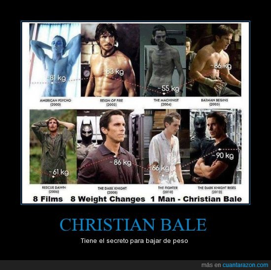 actor,Batman,Christian Bale,comida,dieta,peso,regimen