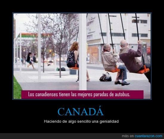autobus,canada,canadiense,columpio,parada