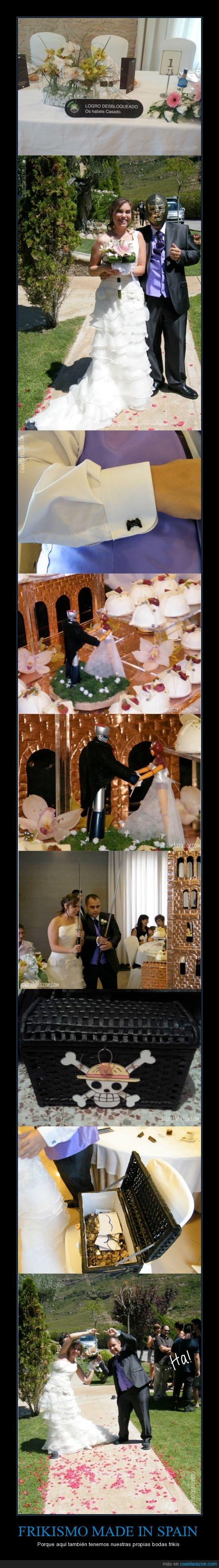 boda,dragon ball,españa,friki,fusion,katana,mazinger,one piece,pastel,propia