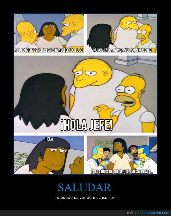 Homer,jefe,lios,los simpson,Michael Jackson,Saludar,salvar