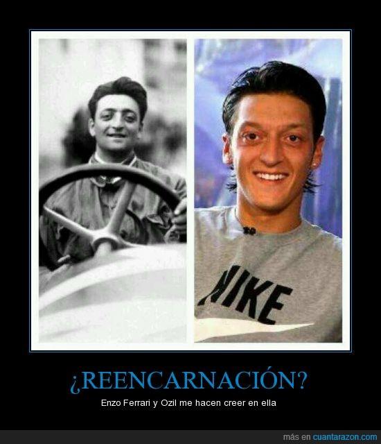 coincidencia,doble,Enzo Ferrari,Mesut Ozil,parecido,razonable,reencarnación