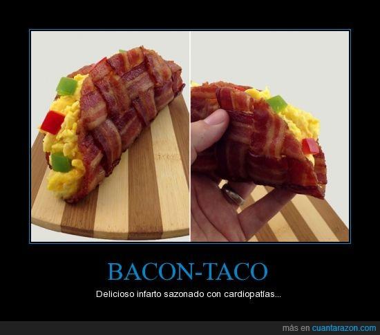 bacon,desayuno saludable,eeuu,para saludar al enterrador,taco