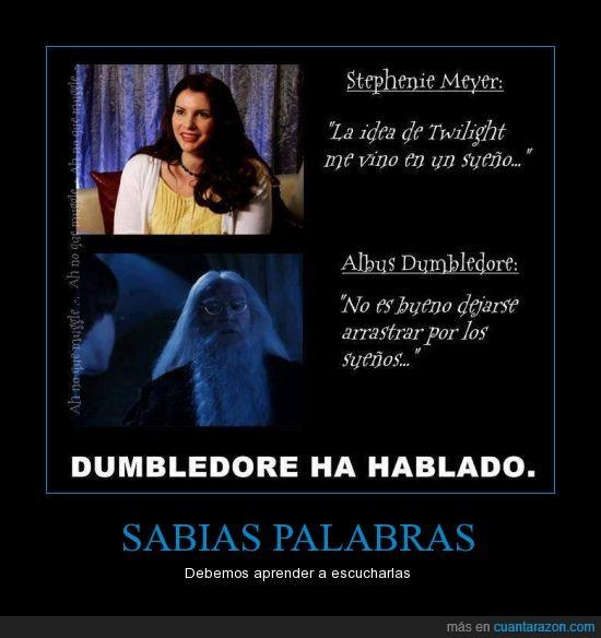 crepusculo,Dumbledore,sabias palabras,sueños
