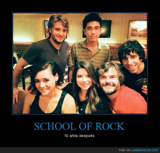 10 años,alumno,heavy metal,Jack Black,niños,School of rock