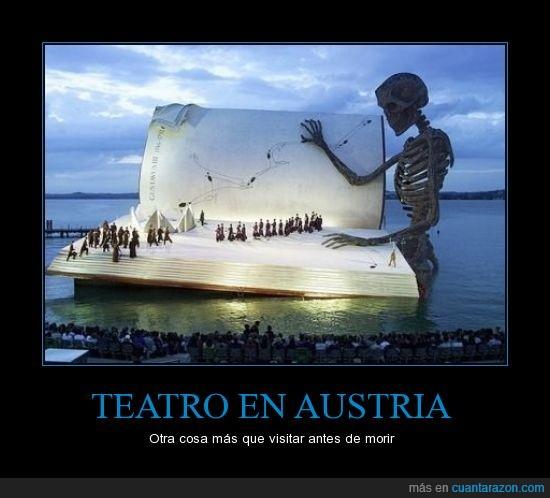 calavera,dentro,gigante,lago,libro,teatro