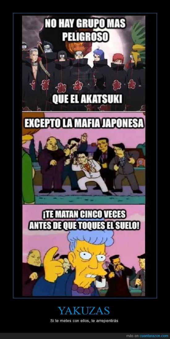 5 veces,mafia japonesa,morir,simpson,Yakuzas