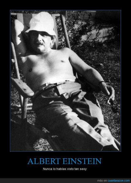 Albert Einstein,estupido y sensual Einstein,tomar el sol