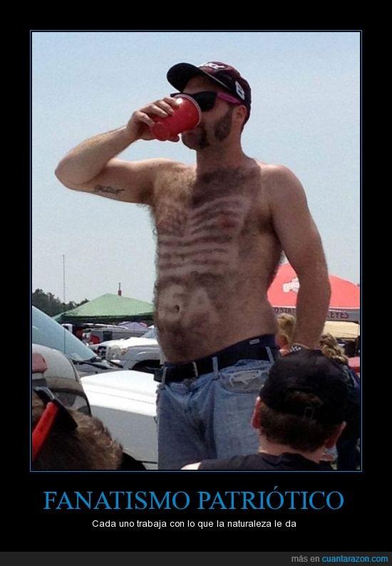 afeita,bandera,cerveza,dibujo,estados unidos,pecho,pelo,redneck style,usa