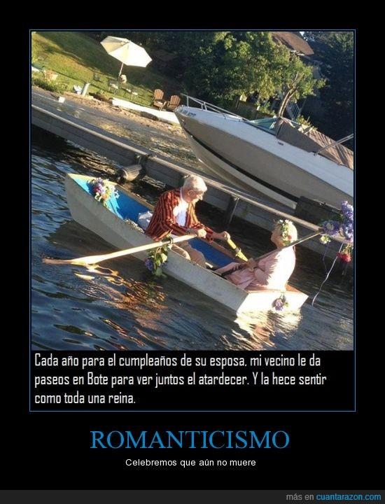 aniversario,atardecer,barca,bote,lago,parque,paseo,romanticismo,señor,vecino