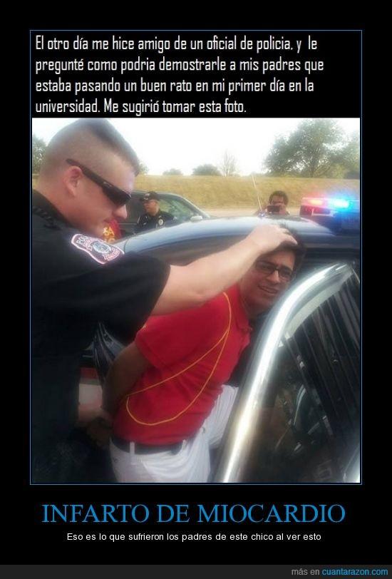 arrestar,broma,coche,foto,hijo,meter,padre,policia,troll