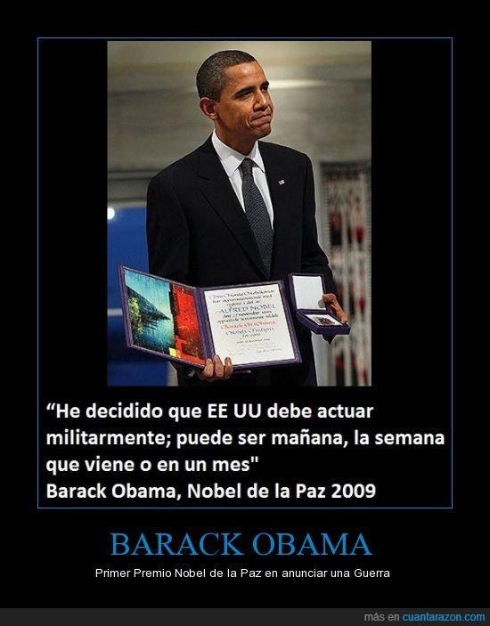 Barack Obama,guerra,Nobel,Obama,Paz,Siria