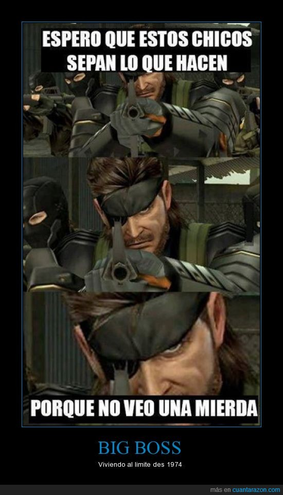 big boss,MGS,parche,peace walker,se la juega,tuerto