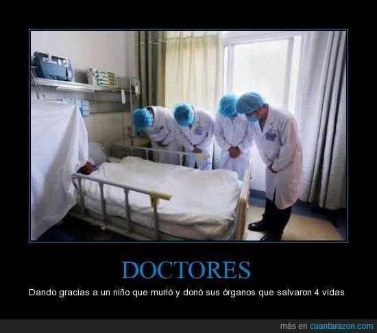 dando,doctores,gracias,murio,niño,organos,vidas