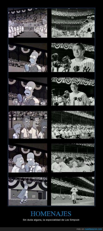 baseball,blanco y negro,especialidad,homenaje,homer simpson,retira