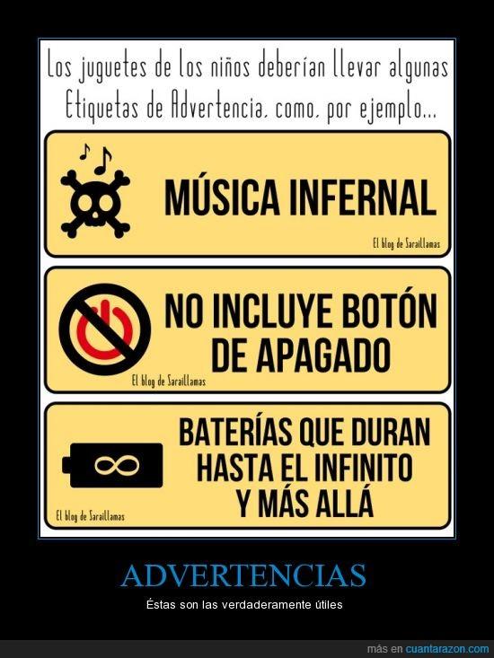 advertencia,bateria,deben,juguete,Lol,pilas,ruido,sonido,traer