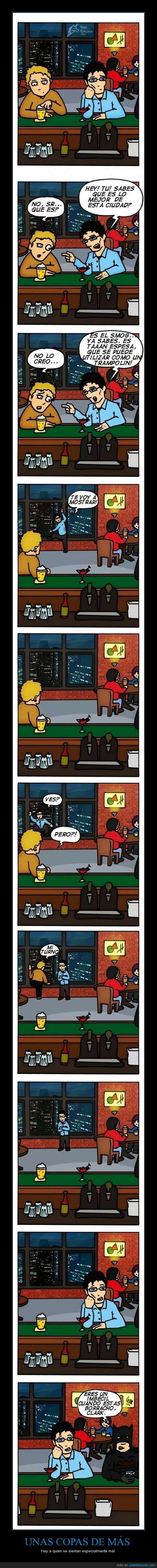 alcohol,bar,batman,borracho,clark kent,superman