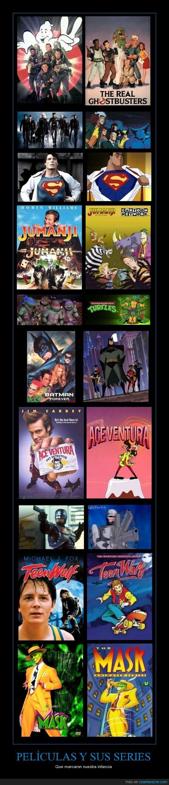 ace ventura,batman,horas de diversion,infancia,jumanji,las tortugas ninjas,lobo adolescente,los canzafantasmas,nostalgia,Pelicual,robocop,series animadas,superman,xmen