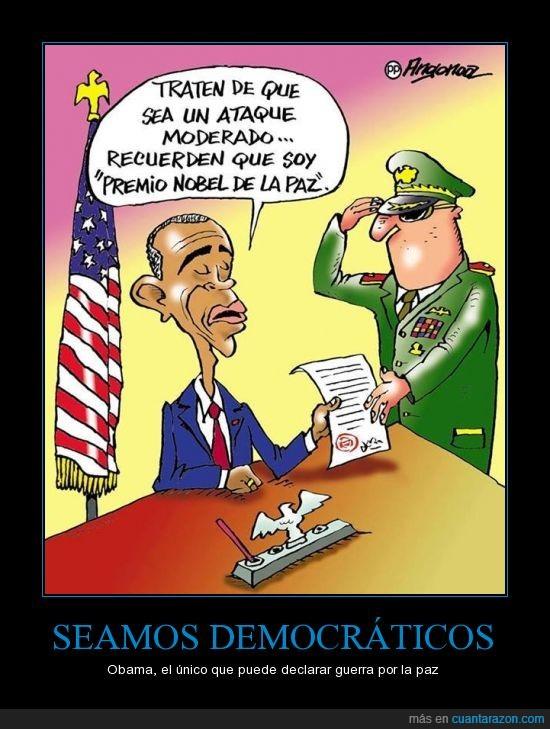guerra,la hipocresia,nobel,Obama,paz,siria,violencia