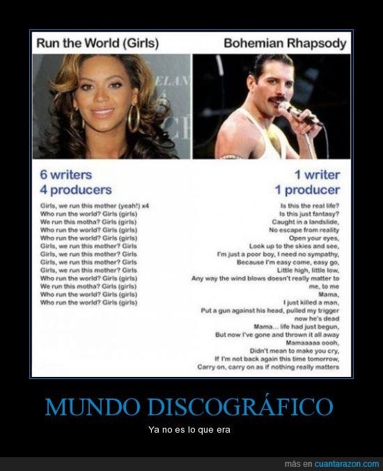 beyonce,como ha cambiado el mundo,compositor,dinero,ladrones,letras de canciones,productor,queen,triste