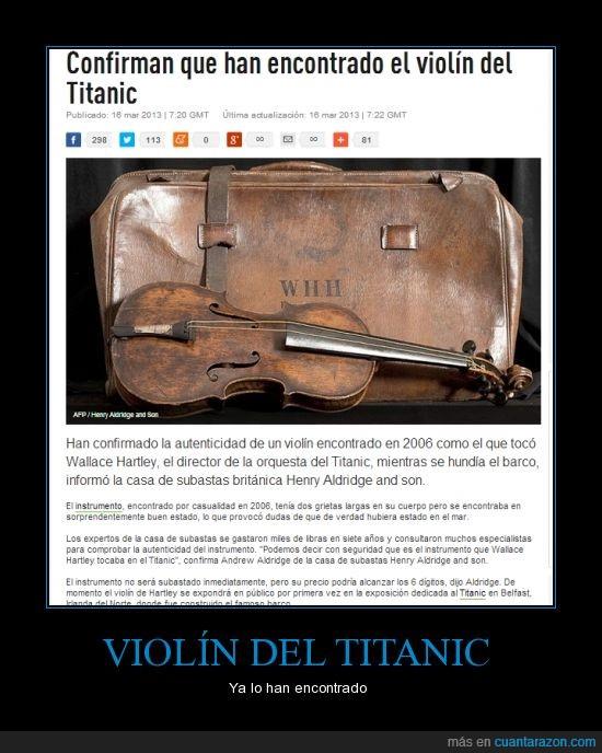 Instrumento musical,reliquia,Titanic