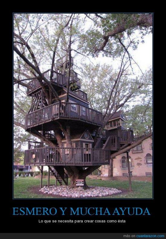 ayuda,Casa del Arbol,casita,el sueño de todo niño,esmero necesitar