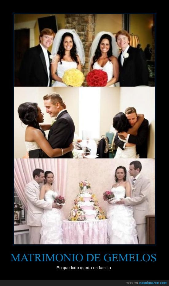 amor,boda,familia,gemelos,hermanos,idénticos,matrimonio