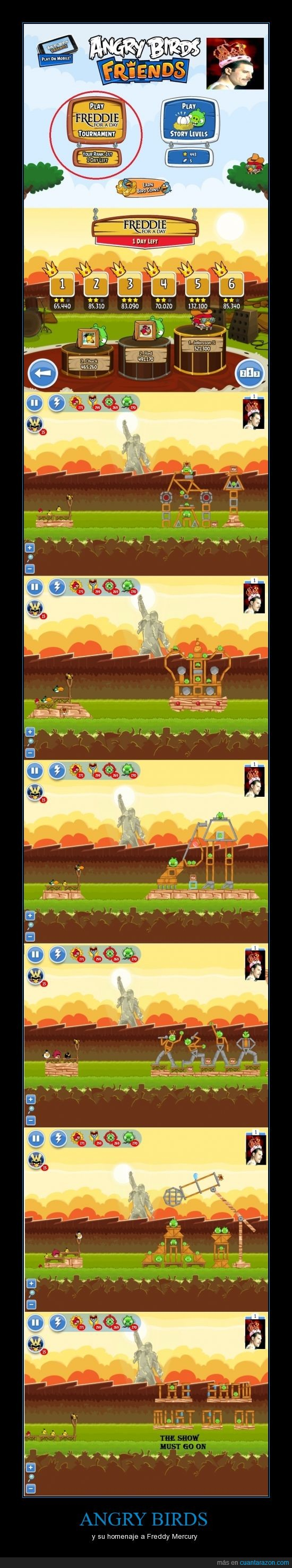 angry birds,don´t fucking cry,freddy mercury,homenaje,it is beautiful