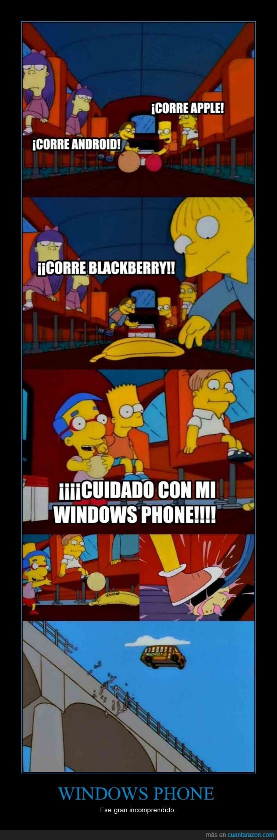 android,apple ios,blackberry,incomprendido,simpsons,sistemas,windows phone