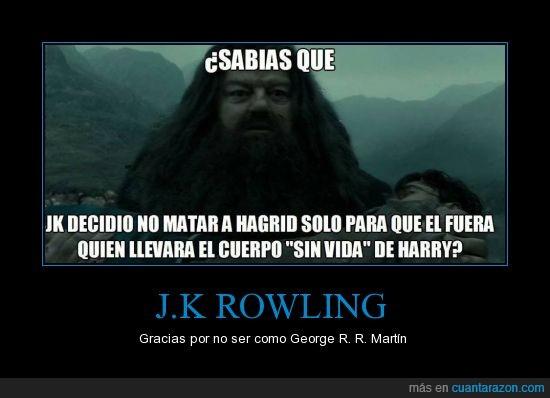 hagrid,harry potter,JK Rowling,muerte