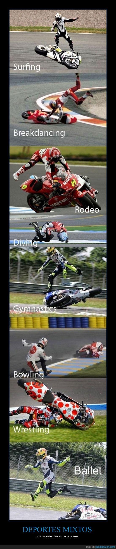 aunque el motociclista no se habra reido,caidas graciosas,mi preferido es el ballet