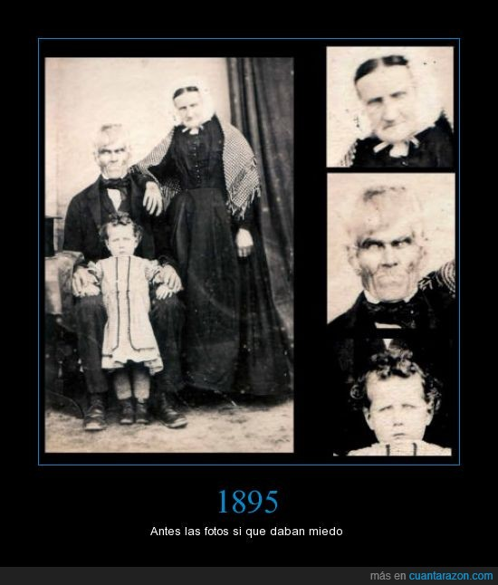 abuelo,familia,foto,Miedo,nieta,nieto,niño,ojos,terror