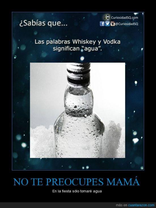 agua,fiesta,licor,mamá,vodka