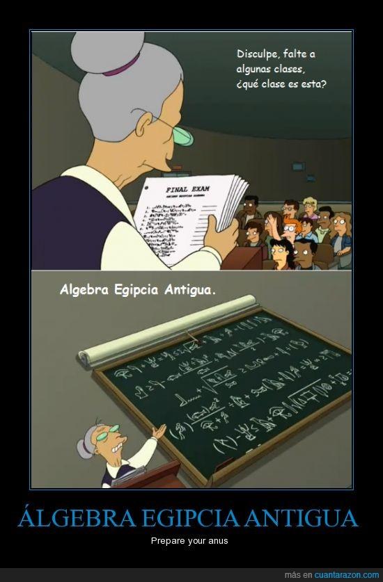 algebra,antigua,chungo,egipcia,fry,futurama,matematicas,prepare_your_anus