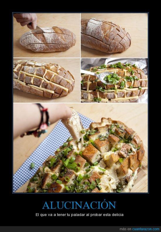 cebollita,mocroondas,paladar,pan,queso